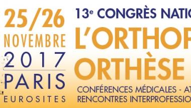 13ème Congrès national de l'Orthopédie